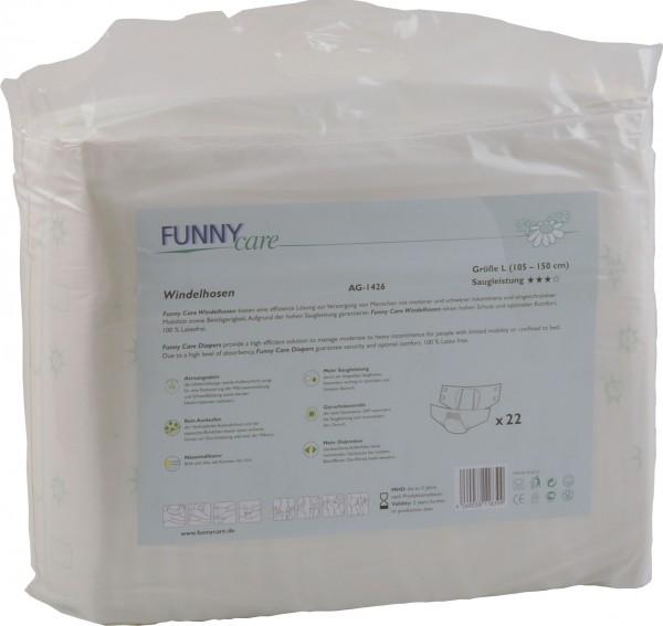 Windelhosen Erwachsenenwindel Größe L, 105-150 cm, 3.100 ml (60 Stück)