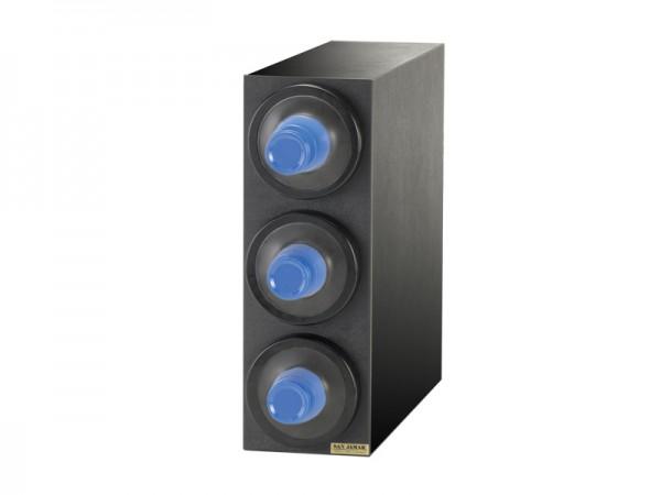 EZ Fit Becherspender Boxsystem, 3x C2410C, mit schwarzen Blendenringen für Becher Ø 73-121 mm
