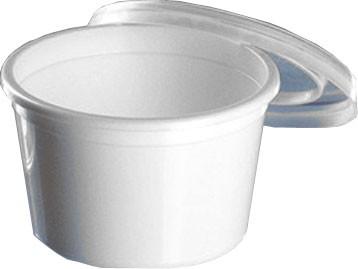 Rundbecher mit Deckel 80 ml weiß (10319)