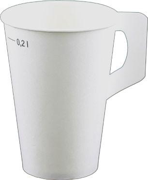 Laborbecher mit Henkel Hartpapier 200 ml weiß (H20-001)
